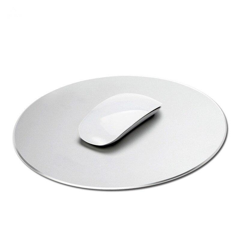 Tapis de souris rond en Aluminium universel pour PC ordinateur portable anti-dérapant métal Pad 22*22 CM 50 pièces/lot