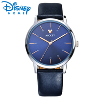 Disney Mickey Mouse Gold Silver Watch Men Simple Luxury Famous Brand Watches Men Fashion Watch 2017