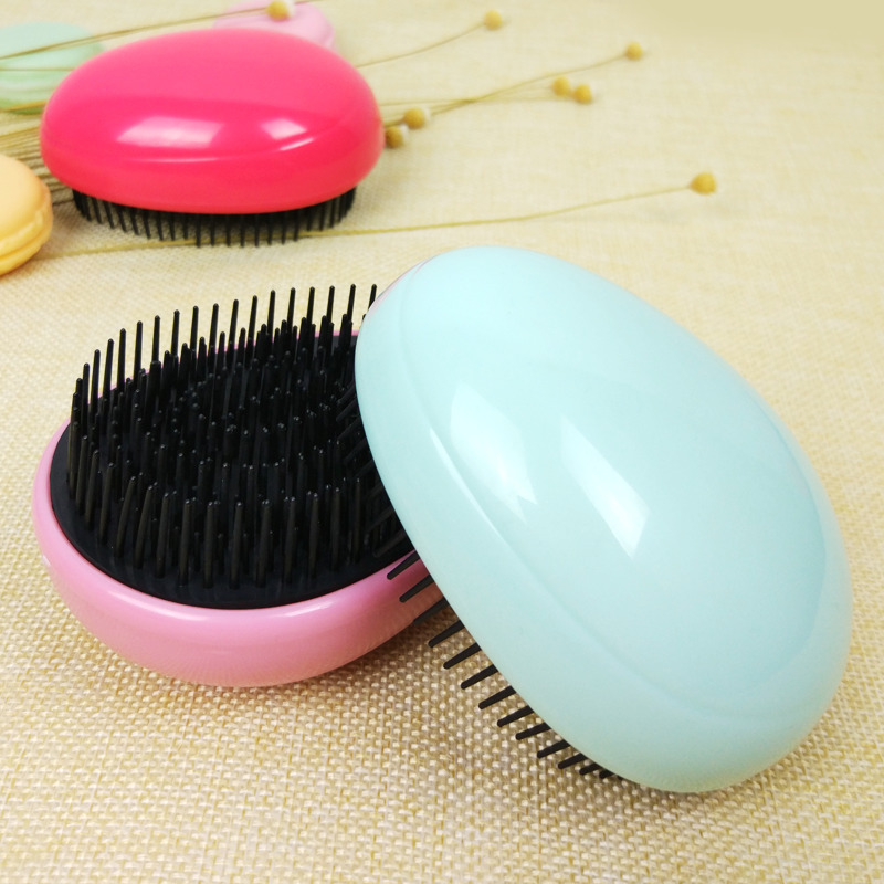 Massage Defence Tie Hairdressing One Small Plastic Household Mini- Portable Tt With Hair Comb 2 in 1 rainbow comb volume hair brush hairdressing mirror tool travel household necessity