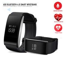 Здоровый фитнес трекер Bluetooth Smart Браслет крови кислородом сердечной сердце браслет бизнес-металл Водонепроницаемый Smart Band