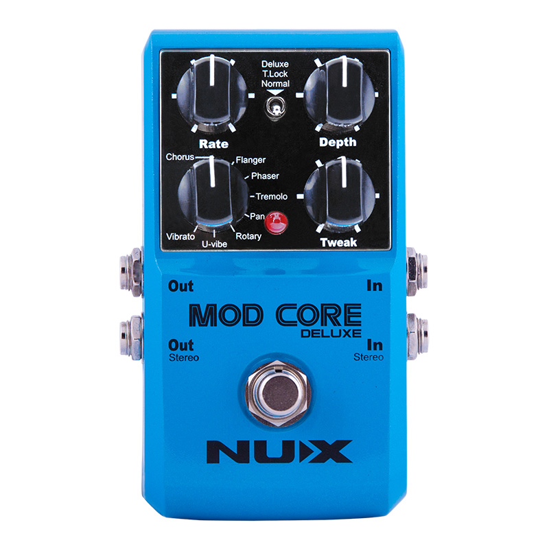NUX Mod Core Deluxe Modulation Effects Pedal Guitar Effect 8 Modulation Effects Preset Tone Lock True Bypass nux tape core deluxe tape echo guitar effect pedal decay modulation 3 repro head compact stompbox 7 delay sound with free gift