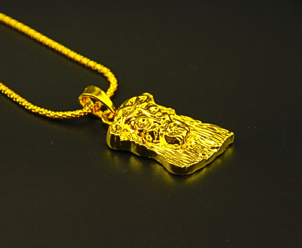 10pcslot Wholesale Fashion Jewelry Gold Charm JESUS Christ Piece