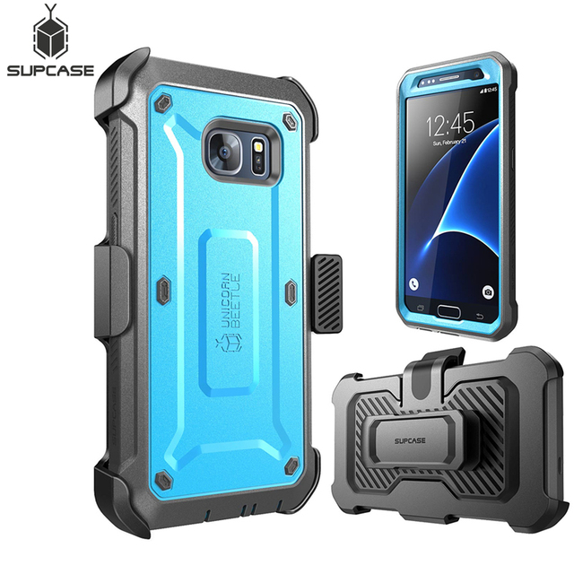 For Samsung Galaxy S7 Case SUPCASE UB Pro Series Full Body Rugged Holster Protective Cover Case WITH Built in Screen Protector