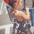 Продажи горячих Девочек Dress Мода Новый 2017 Звезда Полоса Ребенок Лук Dress Летом Стиль Дети Детская Одежда Высокого Качества