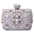 Silver Beaded Diamond Evening bag, Three-dimensional Party bag purse handbag clutches bags Bridal Pouch Hard Case