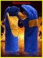 Новый guantes trabajo 40 см черные кожаные перчатки сварки шаблон утолщение механик перчатки предотвратить вырезать шипы