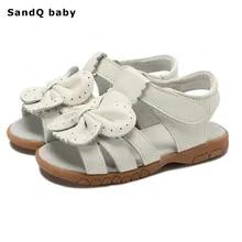 89c12f45 2019 nuevas sandalias de verano para niñas zapatos de princesa con lazo de  cuero genuino sandalias