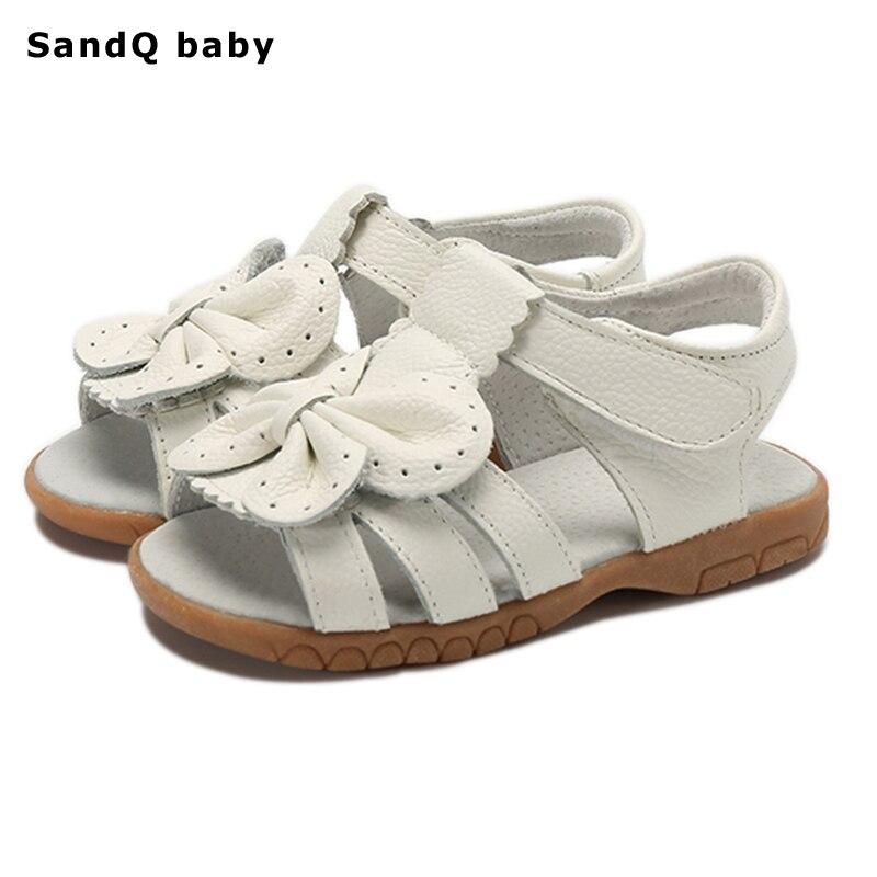 103e68078c 2018 Nuevo Verano Sandalias de Los Niños para Las Niñas de Cuero Genuino  Zapatos de La