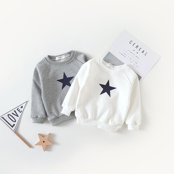 Kids Sweatshirts Star Printed - Long Sleeve