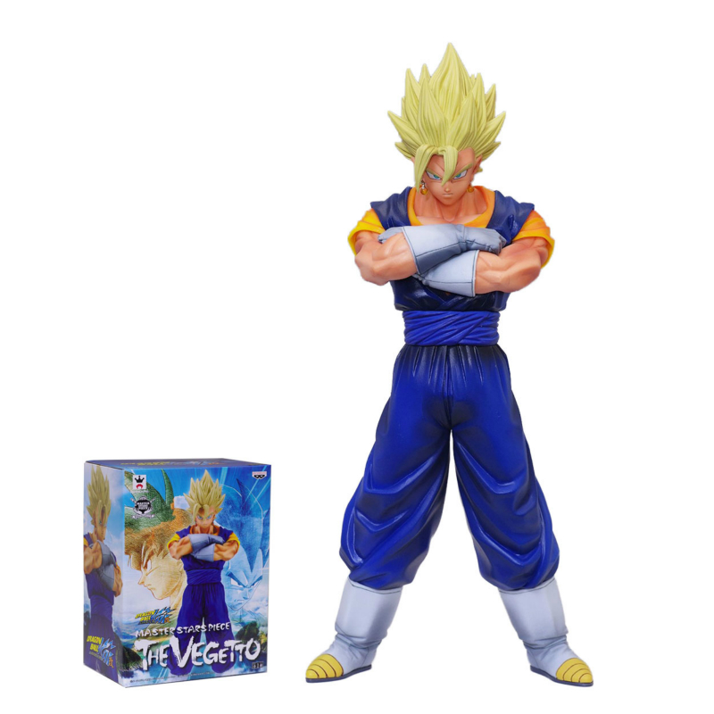 Original Box Anime Dragon Ball Z Figuras Vegetto Son Goku Vegeta Action Figure Dragonball PVC Model Toy anime dragon ball z son goku action figure super saiyan god blue hair goku 25cm dragonball collectible model toy doll figuras