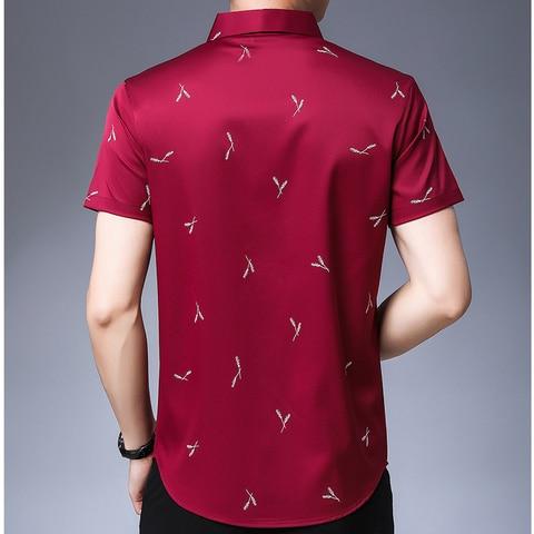 MIACAWOR Men Shirt Summer Short Sleeve Shirts Men Fashion Streetwear Print Shirts Male Casual Shirts Camisa Masculina C511 Karachi