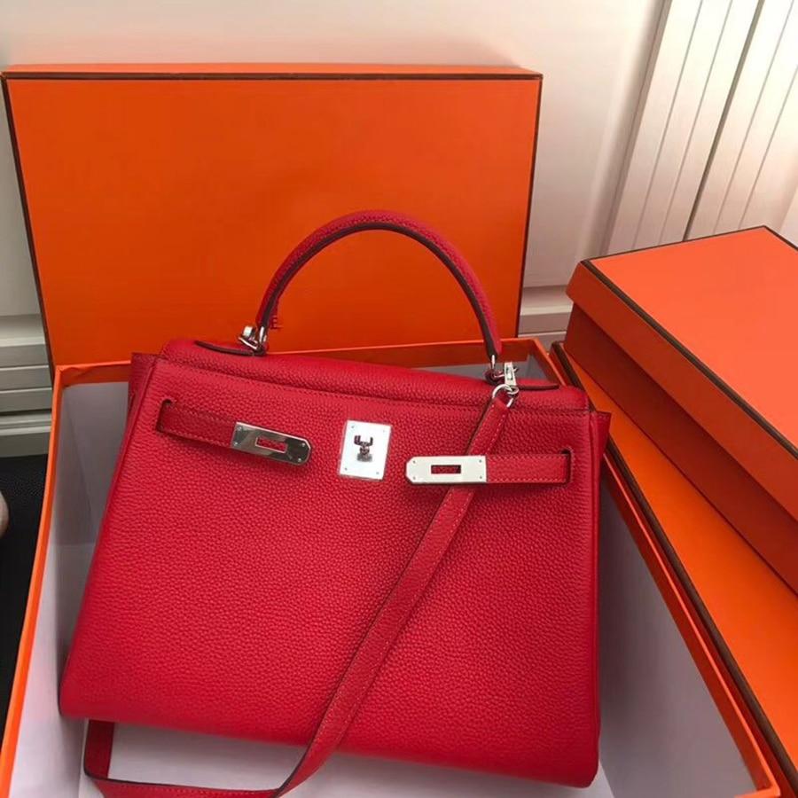 Luxury Fashion Classic togo leather Genuine Leather Women Bag Handbag ladies' purse bag 25cm 28cm 32cm original quality