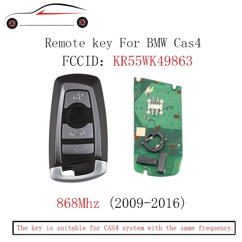 GORBIN 868 Mhz Clé À Distance Sans Clé Fob Pour BMW F CAS4 3 5 7 Série F01 F02 F03 F04 F11 F07 F10 F30 2009-2016 clés d'origine