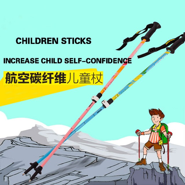 ᐂ1/PCS niños safty fibra de carbono bastón para bastones trekking ...