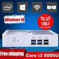 Core i3 5005u mini pc 4 k ultra hd 3d blu ray mini pc com windows 10 8 gb de ram usb 3.0 linux minipc fanless mini computador janelas