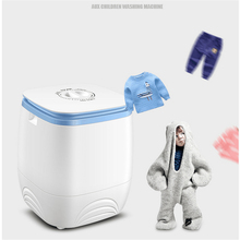 220V Mini Semi-automatic Electric Children Clothes Washing Dewatering Machine Portable Single Bucket Violet Sterilization EU/AU/