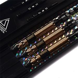 Image 4 - New CUESOUL 23g 25g 27g Professional Steel Tip Darts Black Dart Body With Dart Flights