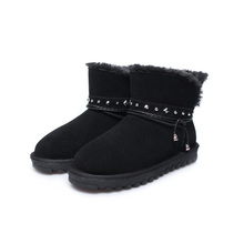 Fashion Winter Boots Warm Wool Ankle Boots For Women Winter Shoes Sheepskin Leather Women Snow Boots