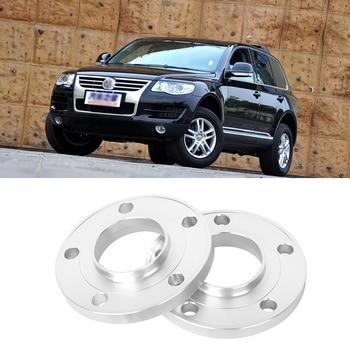 2PCS 5x130 71.6CB Aluminum Centric Wheel Spacers Tire Adapters Rims Flange Hubs For VW Touareg 2006-2017