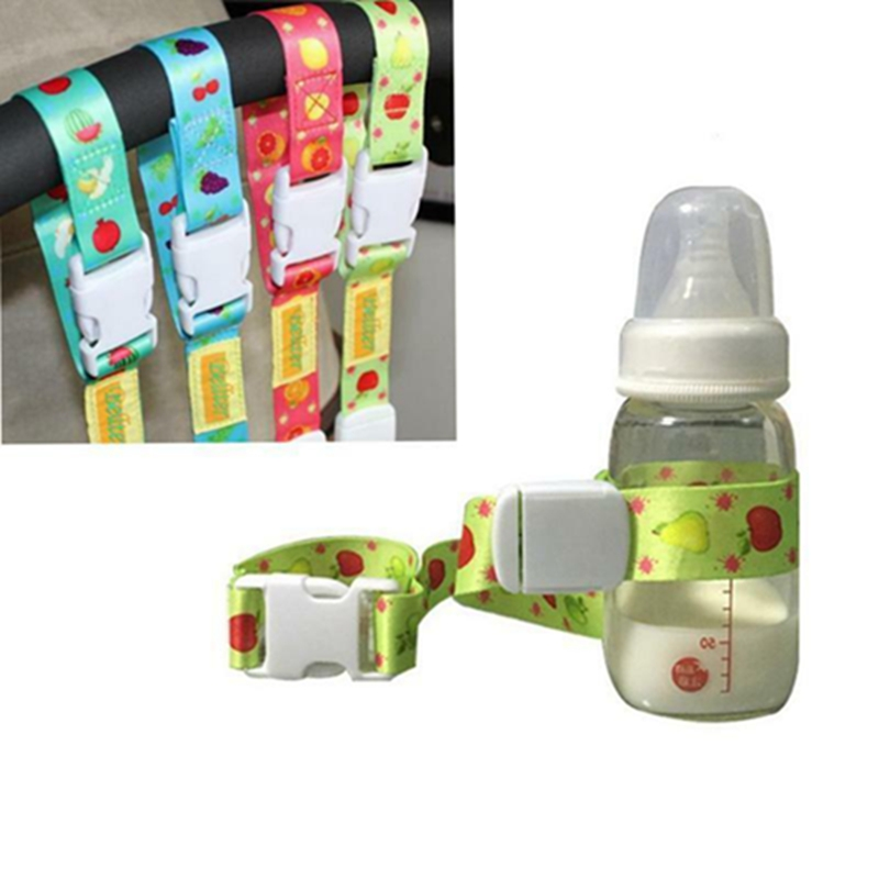 Baby Bottle Strap Holder Stroller Toys Rope Anti Lost Strap Slip Resistant Belt Stroller Accessories