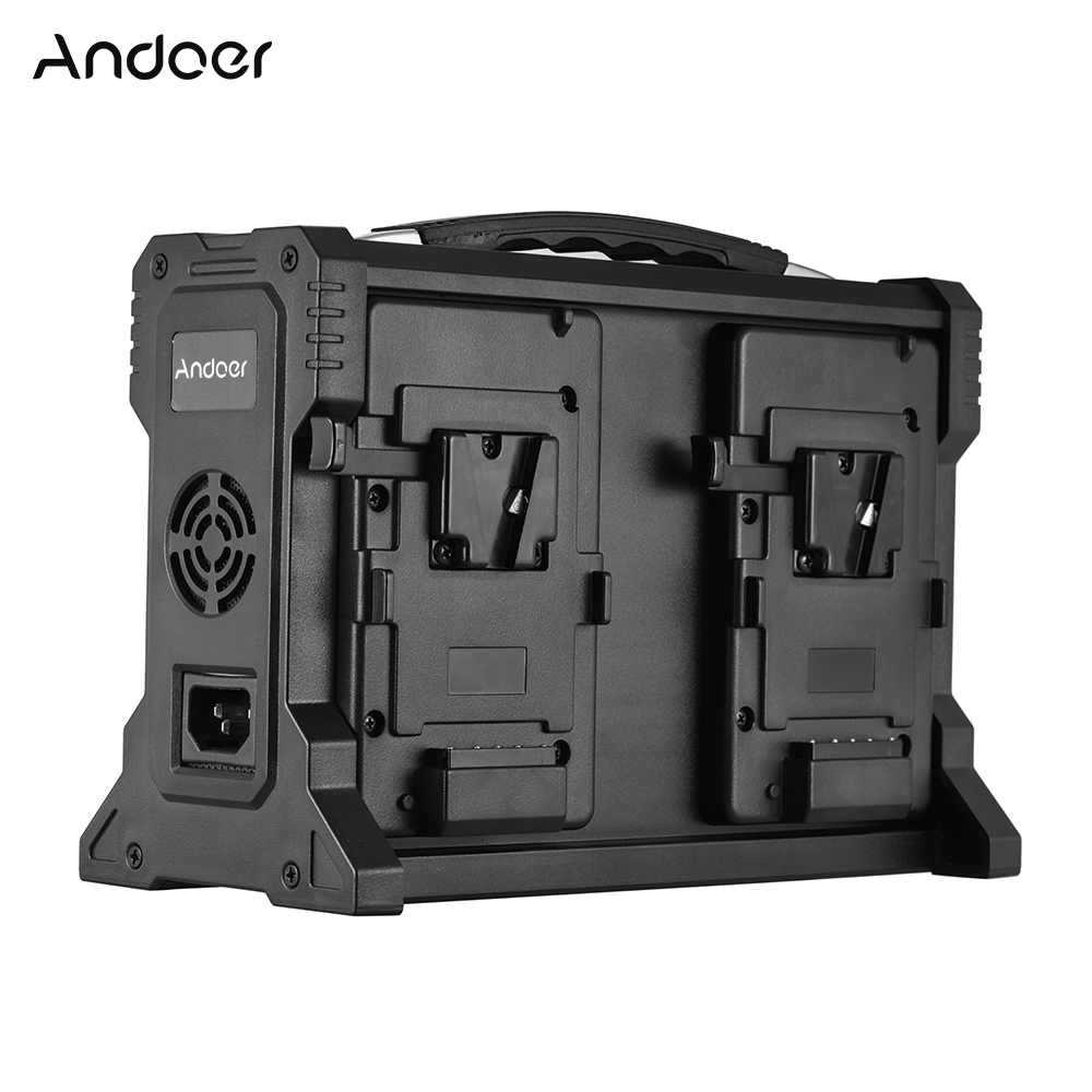Andoer ad 4ks 4チャンネルビデオカメラバッテリー充電器vマウントバッテリー用デジタル一眼レフビデオカメラ  グループ上の 家電製品 からの 充電器 の中 1