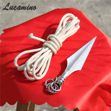 2017 Hot Traditional Wushu Rope Dart Cold Weapon Kungfu Stainless Steel rope darts For Tousheng Soft Martial Arts Equipments