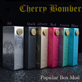 2017 newest cherry bomber mechanical mod electronic cigarette cherry bomber box mod with all colors