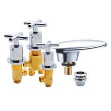 Бронзовый хромированный массажный смеситель «Водопад» для ванны