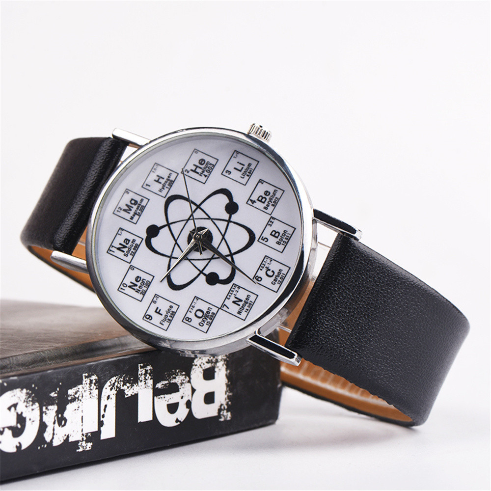 Montre Femme 2019 Hot Sale Women Watches Fancy Chemical Element Casual Leather Band Quartz WristWatch Fashion Relogio Feminino
