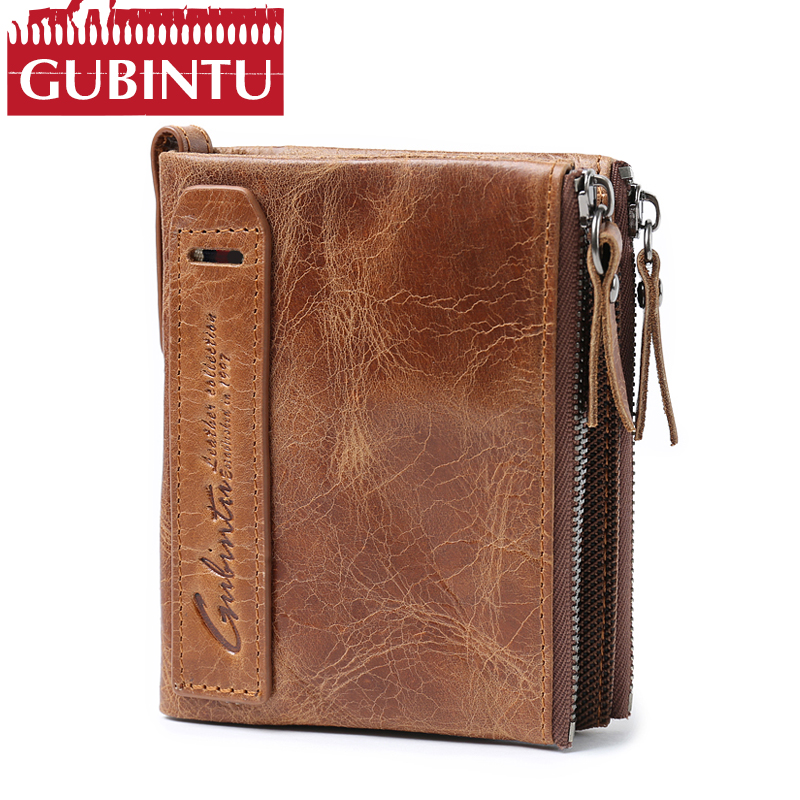 Hot!! Crazy Horse Genuine Leather Men Wallets Credit Business Card Holders Double Zipper Cowhide Leather Wallets Purses Carteira hongkong olg yat handmade leather carving the king of tuhao card package italy pure cowhide retro casual credit card holders