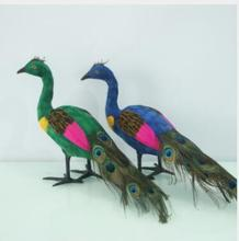 WYZHY Simulation Peacock Animal Model Feather Home Decoration Gift Static Props Decoration24CMX20CMX39CM