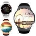 En la acción! kw18 smart watch apoyo tf tarjeta sim mtk2502c smartwatch inteligente monitor de ritmo cardíaco para apple teléfono android