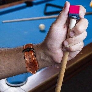 Image 4 - MAIKES רצועת השעון וינטג שמן שעווה עור רצועת שעון צמיד 20mm 22mm 24mm שעון אביזרי שעון להקת עבור panerai אזרח