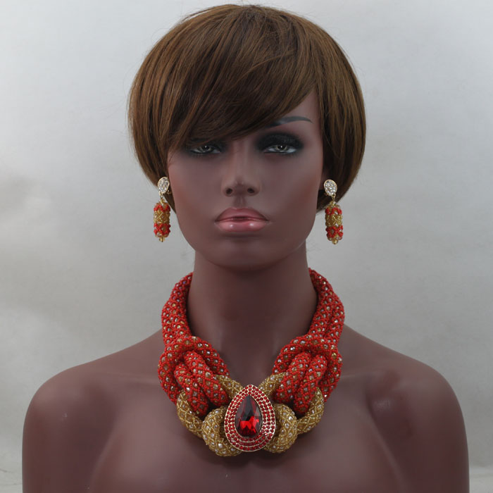 Gorgeous  African Wedding Beads Jewelry Set  Famous African Jewelry Set  Wholesale  Free Shipping hx238Gorgeous  African Wedding Beads Jewelry Set  Famous African Jewelry Set  Wholesale  Free Shipping hx238