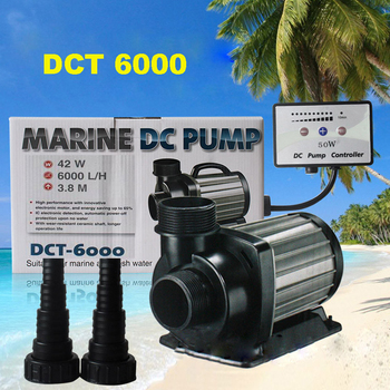 1pc DCT-6000 42W series variable flow DC aquarium pump marine freshwater controllable sitting water pump