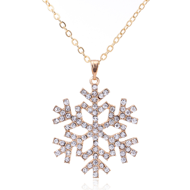 Cheap fashion jewelry CZ Crystal charm necklaces snowflake necklace for christmas flower pendants necklace bijoux colliers 2015 1