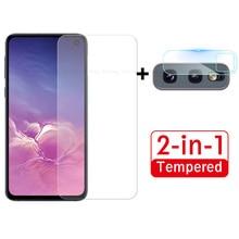 2 In 1 Camera Lens Ultra Slim Voor Samsung Galaxy S10e Screen Protector Voor A50 A30 A70 A71 A20 S 10e A51 F Beschermende Glas Film