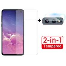 2 in 1 Macchina Fotografica Lente Ultra Sottile Per Samsung Galaxy S10e Protezione Dello Schermo Per A50 A30 A70 A71 A20 s 10e A51 F Vetro di Protezione Pellicola