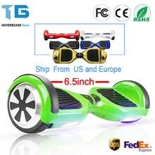 Hoverboard 6,5 zoll Intelligente Selbst Balance Roller 2 Rad Hoover Angehoben Schwebebrett Giroskuter Auto Einrad RU EU Lager