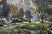 Walk of Faith Thomas Kinkade HD Canvas Print Living Room Bedroom Wall Pictures Art Painting Home Decoration No Frame