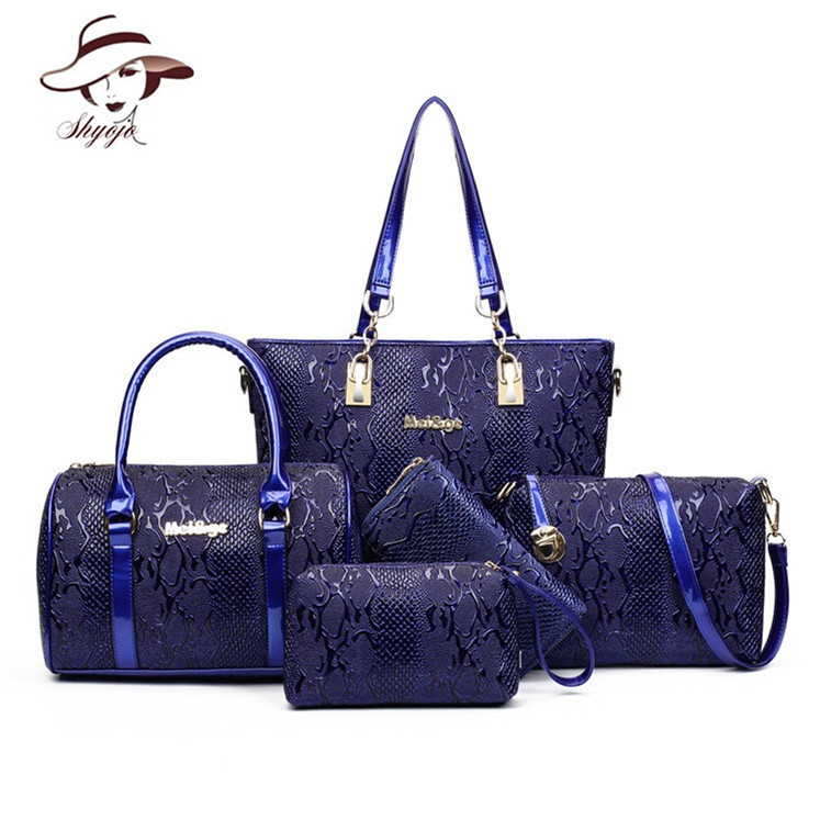 5 Sets Composite Bags Luxury Designer Women Leather Handbag Ladies Messenger Handbags Famous Brands Fashion Female Classic Bag 2017 women handbags leather handbag multicolor women messenger bags ladies brand designs bag handbag messenger bag purse 6 sets