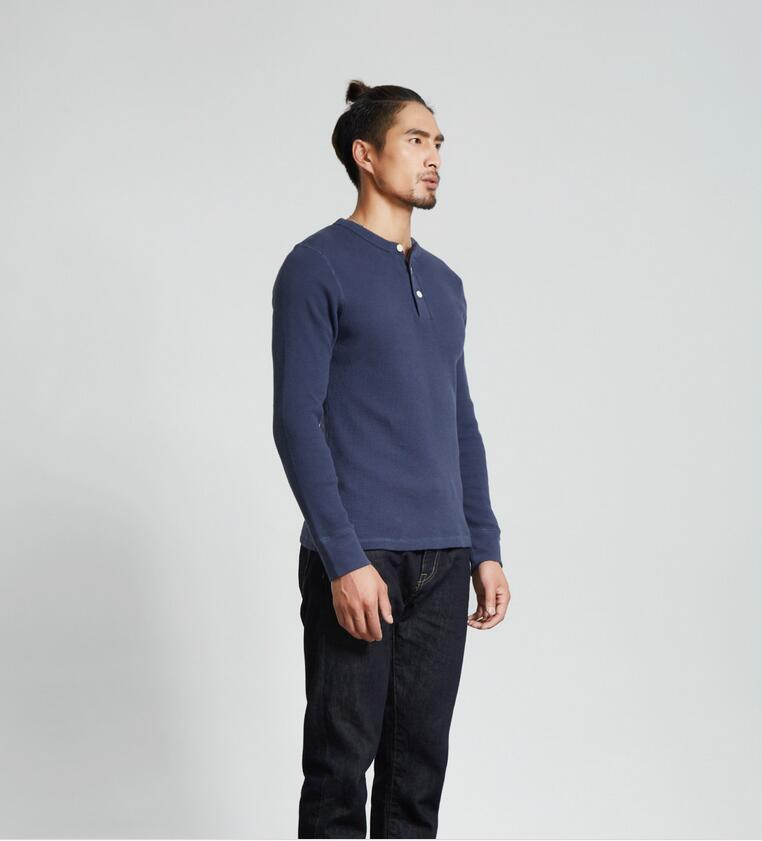 2018 New arrival solid color Men Cotton Long Sleeve s