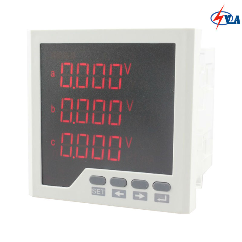 3D33 Frame size 96*96mm ammeter voltmeter LED display three-phase digital multifunction meter AC220V d6 4o panel size 72 72 low price and high quality ac single phase led digital energy meter for industrial usage