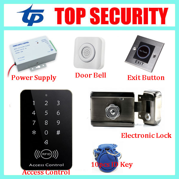 Smart card 125KHZ RFID card door access control reader standalone door access controller door security opener control system smart id card reader standalone 125khz rfid card access controller door security diy door access control system with keypad