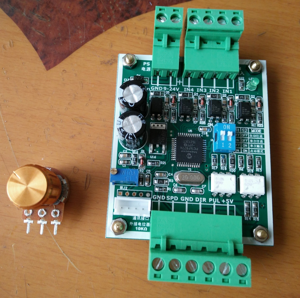 Stepper motor controller single axis pulse generator for for Stepper motor controller software freeware