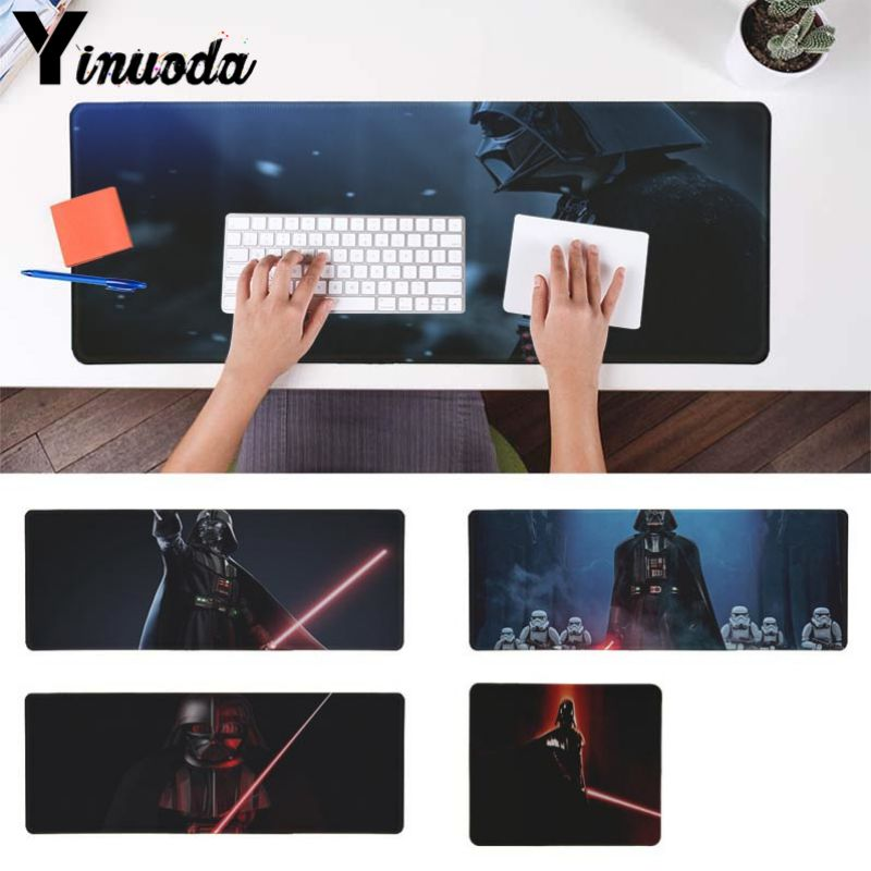 Yinuoda Star War Darth Vader DIY Design Pattern Game mousepad Size for 30x90cm and 40x90cm Gaming Mousepads