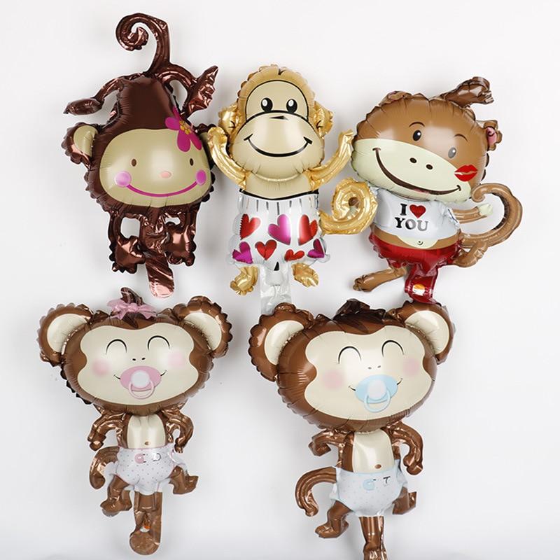 1 шт., 29x44 см, животные в джунглях, тигр, Лев, обезьяна, лиса, лошадь, воздушные гелиевые воздушные шары, декор для детского сафари, дня рождения,...