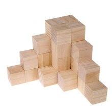 Juego de bloques de madera Natural para niños, juguete de bloques de cubo de madera de Color Natural, bloques de Jenga Skill Stack, juguetes cultivados, torre de juegos plegable