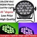 2016 Led Par Света 18x12 W 4in1 RGBW Плоских Пластиковых LED Par может Дискотека Лампы Luz de Luces дискотека Лазерный Луч Света Этапа проектор