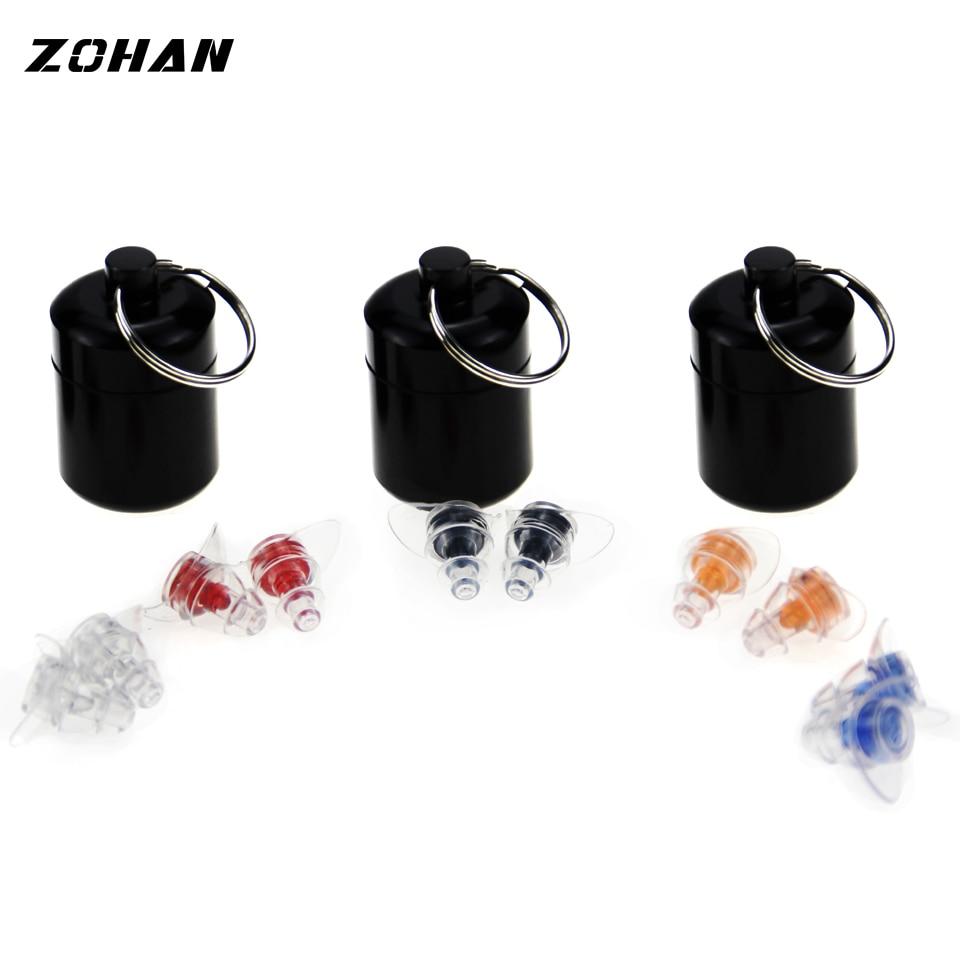 Купить с кэшбэком ZOHAN One Pair Soft Silicone EarPlugs Professional music Ear Plugs Washable Reusable Hearing Protection Noise Reduction Ear Plug
